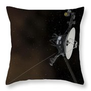 Voyager 1 Spacecraft Entering Throw Pillow