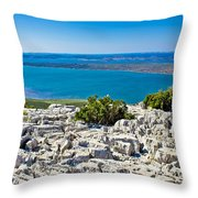 Vransko Lake And Kornati Islands Throw Pillow