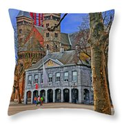 Vrijthof Square Throw Pillow