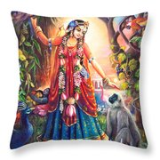 Vrinda Devi Throw Pillow by Lila Shravani