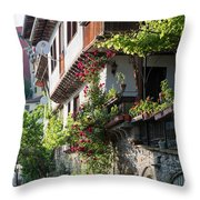V. Turnovo Old City Street View - Bulgaria Throw Pillow