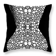 Nude Art - Vulnerable - Black And White By Sharon Cummings Throw Pillow