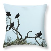 Vulture Club Throw Pillow