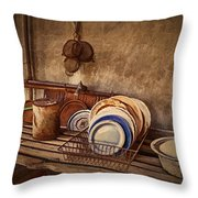 Vulture Kitchen Throw Pillow