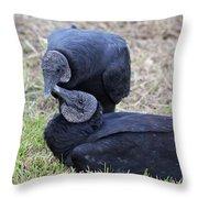 Vulture Love Throw Pillow
