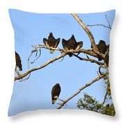 Vulture Tree Full Of Buzzards Throw Pillow