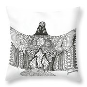 Vulture Wild Ink Throw Pillow
