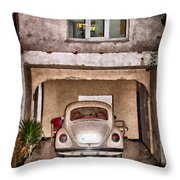 Vw Beetle Painting Throw Pillow