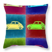 Vw Beetle Pop Art 2 Throw Pillow by Naxart Studio