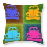 Vw Beetle Pop Art 6 Throw Pillow by Naxart Studio