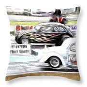 Vw Beetle Race Throw Pillow