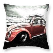 Vw Bug Art Throw Pillow