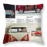 Vw Camper Collage Throw Pillow