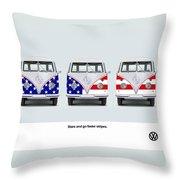 Vw Go Faster Stripes Throw Pillow