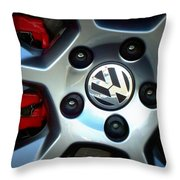 Vw Gti Wheel Throw Pillow