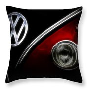 Vw Micro Bus Logo Throw Pillow