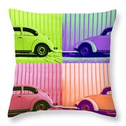 Vw Pop Spring Throw Pillow by Laura Fasulo