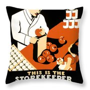 W P A  Food Hygiene Poster C. 1937 Throw Pillow by Daniel Hagerman
