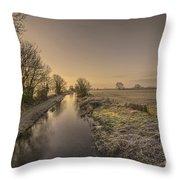 Battens Bridge Frost  Throw Pillow