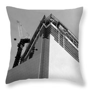 W T C 4 In Black And White Throw Pillow