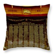 W W I Honor Roll Throw Pillow