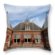 Waag In Amsterdam Throw Pillow
