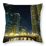 Wabash City Scape Throw Pillow