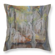Waccamaw River Impressions Throw Pillow