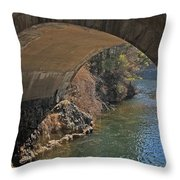 Wachusett Reservoir Spillway 3 Throw Pillow
