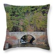 Wachusett Reservoir Spillway 6 Throw Pillow