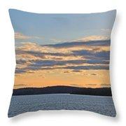 Wachusett Reservoir Sunset Throw Pillow