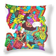 Wackadoo Throw Pillow by Chelsea Geldean