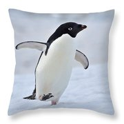 Waddling Throw Pillow