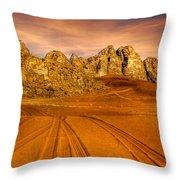 Wadi Rum Jordan Throw Pillow by Dan Yeger