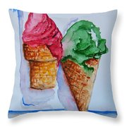 Wafer Or Waffle Cone Throw Pillow