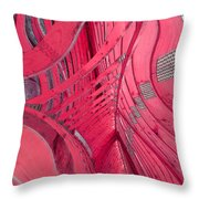 Waffling Structure Throw Pillow