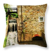 Wagner Grist Mill Throw Pillow by Paul Ward
