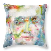 Wagner - Watercolor Portrait Throw Pillow