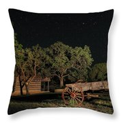 Wagon And Stars 2am 115859and115863_stacked Throw Pillow