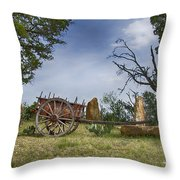 Wagon-hill Country Texas V2 Throw Pillow