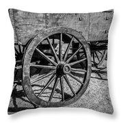 Wagon Wheels Rolling Throw Pillow