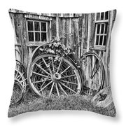 Wagons Lost Throw Pillow by Crystal Nederman