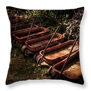 Wagons Of Yesterday Throw Pillow