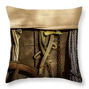 Wagons West Throw Pillow by Kelly Rader