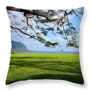 Waiahole Oahu Hawaii Throw Pillow