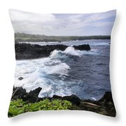 Waianapanapa Pailoa Bay Hana Maui Hawaii Throw Pillow