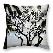 Waikiki Beach Hawaii Usa Throw Pillow