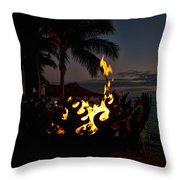 Waikiki Rumfire Throw Pillow
