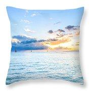 Waikiki Sunset After An Afternoon Thunderstorm Throw Pillow