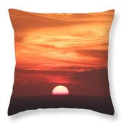 Waikiki Sunset No 2 Throw Pillow